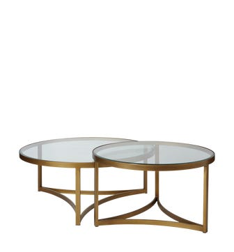 Set of 2 Opplyst Tables - Bronze
