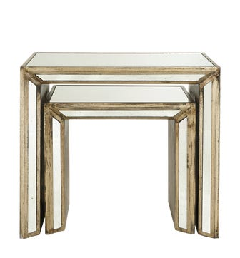 Set of 2 Versailles Nested Side Tables - Antique Gold