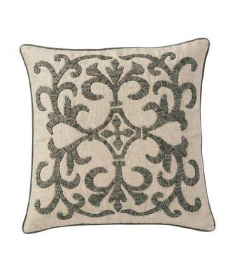"""20""""Sq Gawain Pillow Cover - Natural/Gray"""