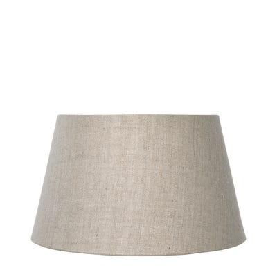 20cm Drum Linen Lampshade - Natural