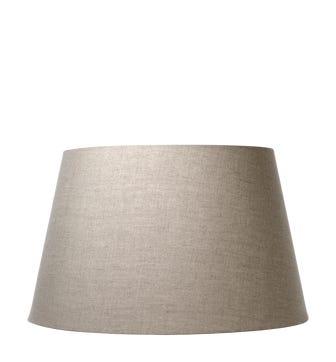 25cm Drum Linen Lampshade - Natural