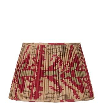 25cm Pleated Madura Silk Empire Lampshade - Red