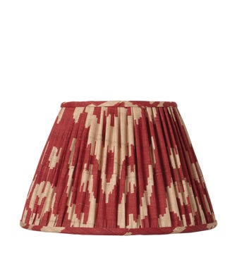 25cm Pleated Palau Silk Empire Lampshade - Red
