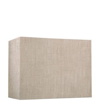 26cm Rectangular Linen Lampshade - Natural