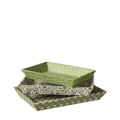 Set of 3 Very Useful Elibris Trays - Green