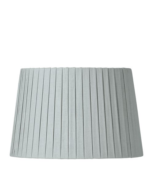 30cm Pleated Linen Lampshade - Grey Blue