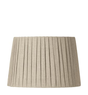 30cm Pleated Linen Lampshade - Natural