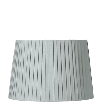 35cm Pleated Linen Lampshade - Grey Blue