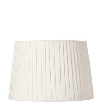 35cm Pleated Linen Lampshade - Off White