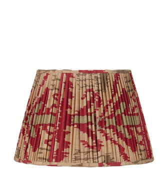 35cm Pleated Madura Silk Empire Lampshade - Red