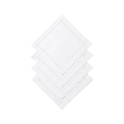 Set of 4 Chaillot Hemstitched Placemats - White