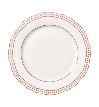 Set of 4 Coquille Dinner Plates - White