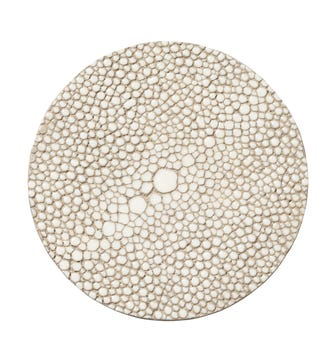 Set of 4 Faux Shagreen Coasters - Taupe