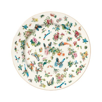 Adam Lippes Four Roseraie Dinner Plates - Multi