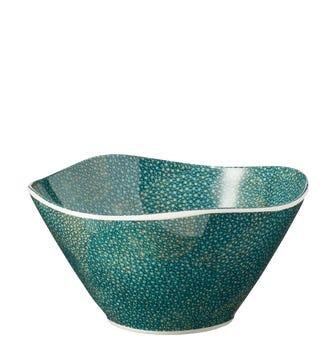 Set of 4 Shagreen Print Bowls - Jade