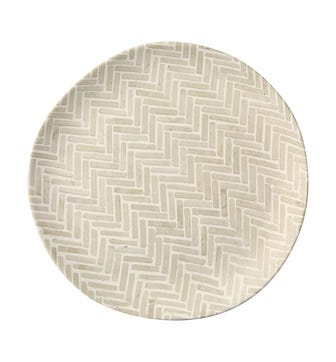 Set of 4 Sillben Dinner Plates - Taupe