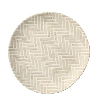 Set of 4 Sillben Side Plates - Taupe