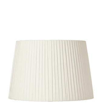40cm Pleated Linen Lampshade - Off White