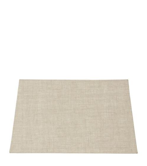 45cm Half Rectangular Linen Shade - Natural