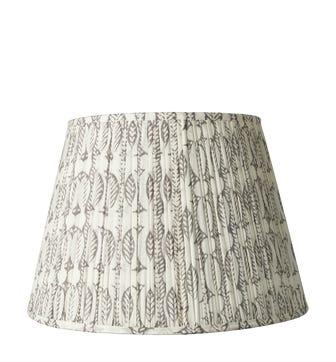 45cm Pleated Daun Cotton Lampshade - Poppy Seed