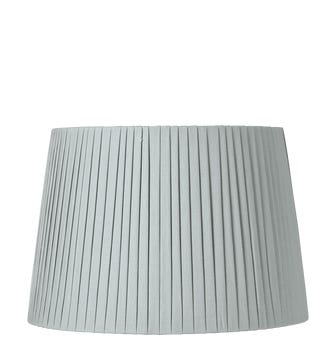 45cm Pleated Linen Lampshade - Grey Blue
