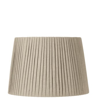45cm Pleated Linen Lampshade - Natural