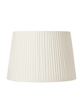 45cm Pleated Linen Lampshade - Off White