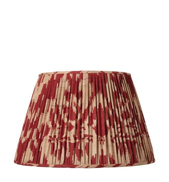 45cm Pleated Palau Silk Empire Lampshade - Red