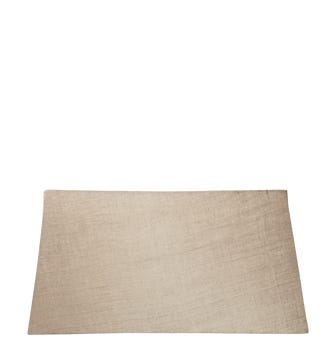45cm Rectangular Linen Lampshade - Natural