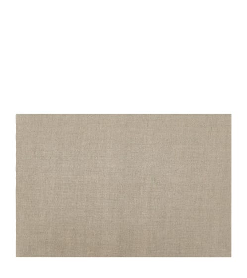 50cm Narrow Rectangular Linen Lampshade - Natural