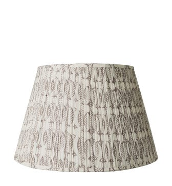 50cm Pleated Daun Cotton Lampshade - Poppy Seed