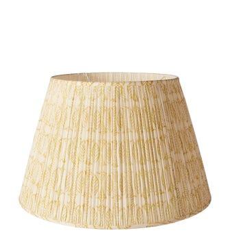 50cm Pleated Daun Cotton Lampshade - Turmeric