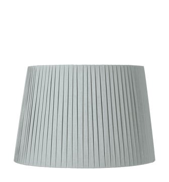 50cm Pleated Linen Lampshade - Grey Blue
