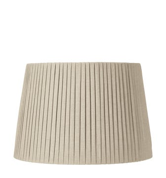 50cm Pleated Linen Lampshade - Natural