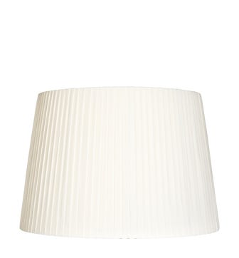50cm Pleated Linen Lampshade - Off White