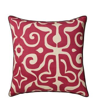 56cmSq Kawa Kaleidoscope Cushion Cover - Silk - Loganberry