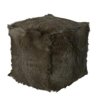 Chyangra Goat Hair Floor Pillow - Sable
