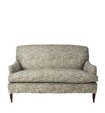 Zhouzhuang Linen Slip Cover For Coleridge 2-Seater Sofa - Taupe