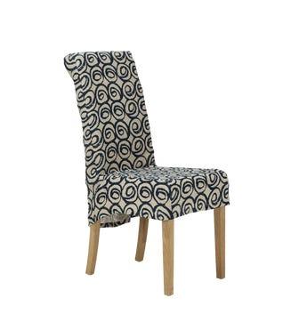 Tutuila Linen Slip Cover For Echo Dining Chair - Blue
