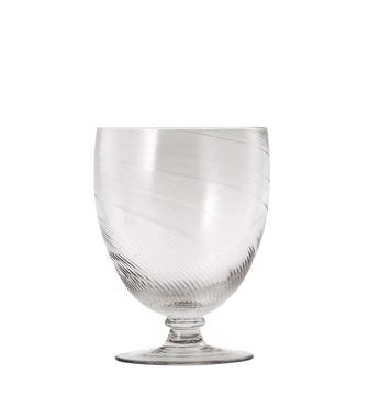 Set of Four Large Twisted Wine Glasses - Clear