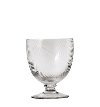 Set of Four Small Twisted Wine Glasses - Clear