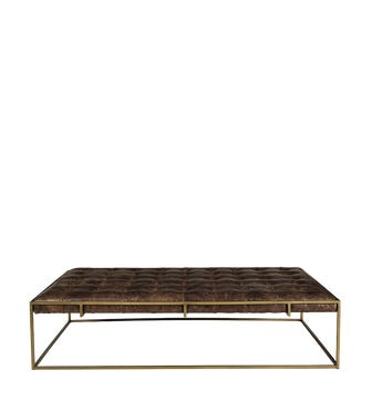Wallace Coffee Table/Ottoman - Aged Hazelnut Leather