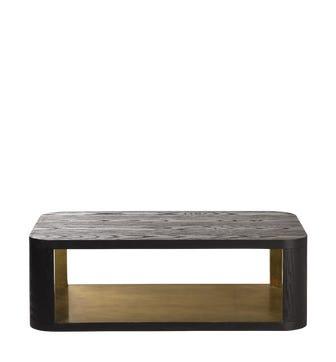 Khafra Coffee Table - Lunar Black/Gold