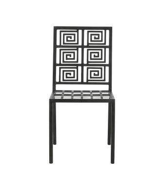 Elafonisi Dining Chair - Gunmetal Grey