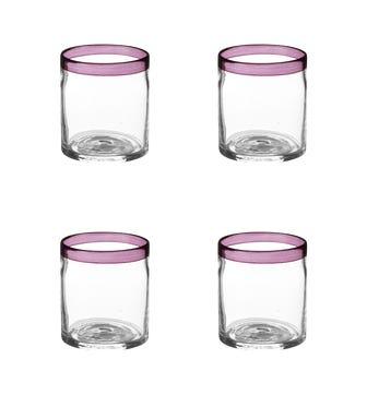 Set of 4 Gromwell Tumblers - Purple
