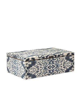Nesbitt Upholstered Ottoman - Blue