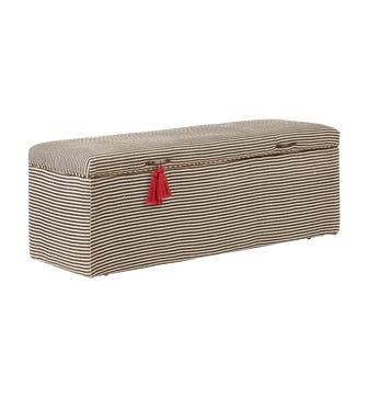 Crusoe Upholstered Trunk - Charcoal