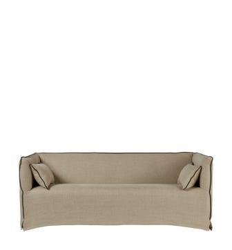 Abbotsford 3-Seater Sofa - Sand Wide Herringbone