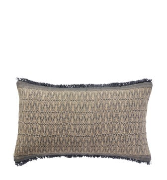 Abetzi Cushion Cover (60x35cm) - Natural/Grey