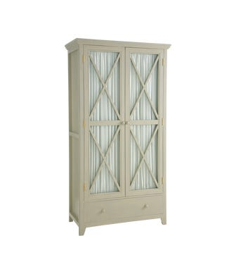 Alford Wooden Storage Cupboard - Dove Gray